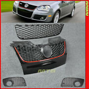 2006-2009 Vw Mk5 Gti / Gli Style Front Honeycomb Grille Upper Lower Fog Cover