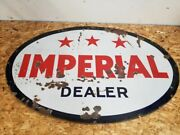 Imperial 3 Star Dealer Sign Double Sided Esso Canadian 5 Feet