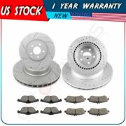 For Mercedes-benz Glk250 2013-2015 Front + Rear Brake Pads And Rotors Discs Kit