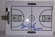 Fran Dunphy Signed Autographed Temple Owls Coaches Clipboard Psa/dna