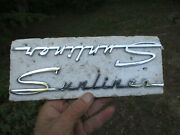 1955 1956 2 Ford Sunliner Script Emblems 9 1/2 Could Be Reproductions