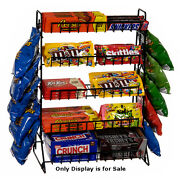 Steel 5 Tier Display Rack 15 W X 9 D X 21 H Inches With 2 Clipping Strips