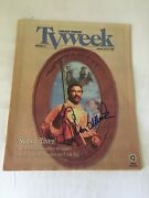 Tom Selleck Autographed 2x Chicago Tv Week Jan 1997 Signed On Cover And P 5 W/coa