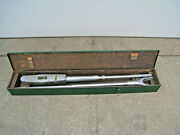 James R. Kearney 20426 Size 5 1 Drive 300-2000 Ft-lb Torque Wrench W/ Case Used