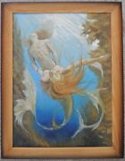 Oil Painting Picture Triton And The Mermaid 75x58cm