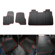 Truck Floor Foot Mats Front Rear Liner Auto Mat Fit Ford F150 2015 2016 2017 Red