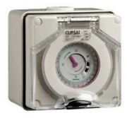 Clipsal 56-series Timer Module 16a 250v Surface Mounted Grey- 24-hours Or 7-day