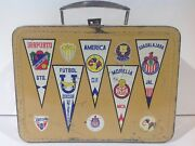 1970's Mexican Futbol Metal Lunch Box Only Ultra Rare From Mexico No Thermos