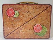 1970and039s Vintage English Sandwich Metal Lunch Box From England Near Mint Unused