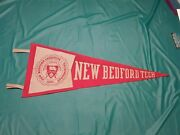 Andnbspvintage 1959 New Bedford Tech Ma Pennant 28 Inchesandnbsp