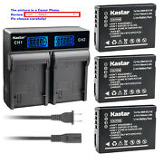 Kastar Battery Lcd Rapid Charger For Dmw-bcg10e Bcg10pp Panasonic Lumix Dmc-zs3