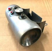 Usa Made Round Keg Style Custom Oil Tank W/battery Tray For Harley And Customs