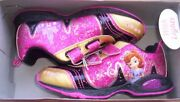 Disney Sofia The First Shoes Girland039s Size 11 New Sparkly Pink And Gold Sneakers