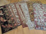 3x5 Small Rug French Aubusson Style Needlepoint Oriental Area Rug Door Mat