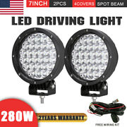 New Design Pair Cree 280w 7inch Led Driving Lights Spotlights Truck Offroad 4x4