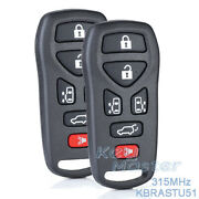2x For Nissan Quest 2004-2009 Replacement Keyless Entry Remote Key Fob Kbrastu51