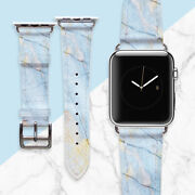 Marble Band For Apple Watch Blue Stone Iwatch Strap Smart Watch 38 Mm Bracelet
