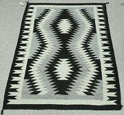 Navajo Natural Rug With Sturdy Handle 60 X 39 C.1950s-60s