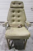 Cabin Seat Assembly Tan Leather With Seat Belt, Part Number 115-530025-15