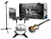 New Nintendo Wii Beatles Rock Band Limited Edition Bundle Drums Guitar Game Andmic