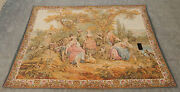 Huge Vintage French Beautiful Romantic Pastoral Scene Tapestry 212x154cm A554