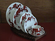 Temple Dragon China By Fitz And Floye - Dinner Set For Four - Reduced Price