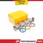 Pistons With Rings @0.50mm Fit 01-05 Honda Civic Vtec Ex Hx Si 1.7 D17a2 D17a6