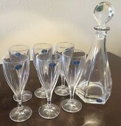 Bohemia Crystal Wine Glasses And Decanter - New From The Czech Republic