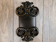 Metal Blank Wall Plate Electrical Cover Single Gang, Old World Medieval Royal