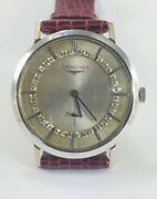 Longines 14k Solid White Gold Diamond Manual Winding Vintage Watch Preowned