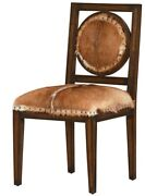 20 W Hunter Dining Chair One Of A Kind Hair On Hide Leather Solid Wood Frame