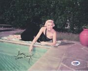 Doris Day Hand Signed 8x10 Cool Photo    Beautiful Pose By The Pool    Psa