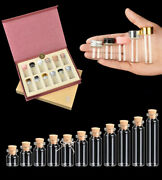 Collection Glass Vial Jars Containers Bottle Gift Set Cork Stopper Test Tube