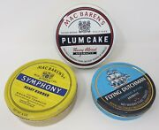 3pc Lot Of Mac Baren's Symphony And Plum Cake And Flying Dutchman Tobacco Tins