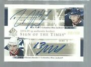 2004-05 Sp Authentic Sign Of The Times Dsnz Rick Nash/nikolai Zherdev Ref0718