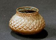 Antique Hand-hammered Mexican / Taxco Copper Jar 5 X 3 C.1940s