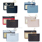 Jet Set Small Top Zip Coin Pouch Id Card Holder Key Ring Wallet