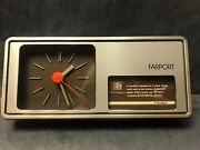 Farport Battery Operated Clock With Calander From 1987-1989