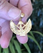 Beautiful Solid18k Gold Hand Made Egyptian Winged Queen Isis Pendant /charm