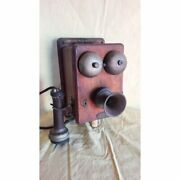 Old Wooden Wall Phone Delville Model Missing From Japan