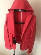 Dsquared2 Coral Red Three Buttons Men's Blazer Jacket With Hood,us S /m, It 48