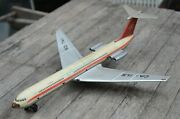 Vntg. Airplane Tin Toy Jet Il 62 Friction Ca - Il5 Aircraft Russia Cccp
