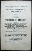 Vintage Auction Catalogue Of Woodworking Machinery