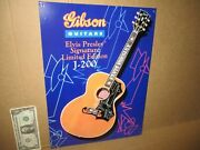 Gibson Guitars - Old Sign Dated '96-shows Detail Of Elvis Limited Edition Guitar