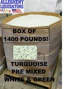 1400 Lbs Turquoise Plastic Pellets Injection Molding Pre-mixed Green + White