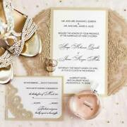 Chantilly Lace A9 Laser Cut Wedding Invitations, Set Of 25, 9 Classic Colors