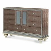 Aico Furniture - Hollywood Swank Upholstered Dresser In Amazing Gator - 03050-33