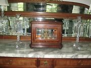 Antique French Napoleon 111 Inlaid Mixed Wood And Bronze Tantulus Gorgeous