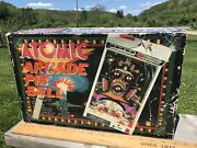 Vintage Tomy 1979 Atomic Arcade Electronic Pinball Machine With Box And Legs
