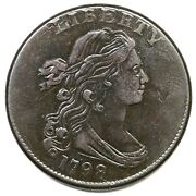 1798 S-173 R-3 Draped Bust Large Cent Coin 1c